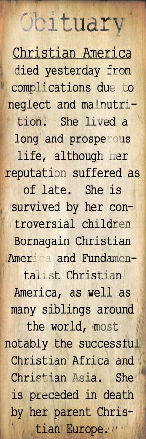 RIP Christian America