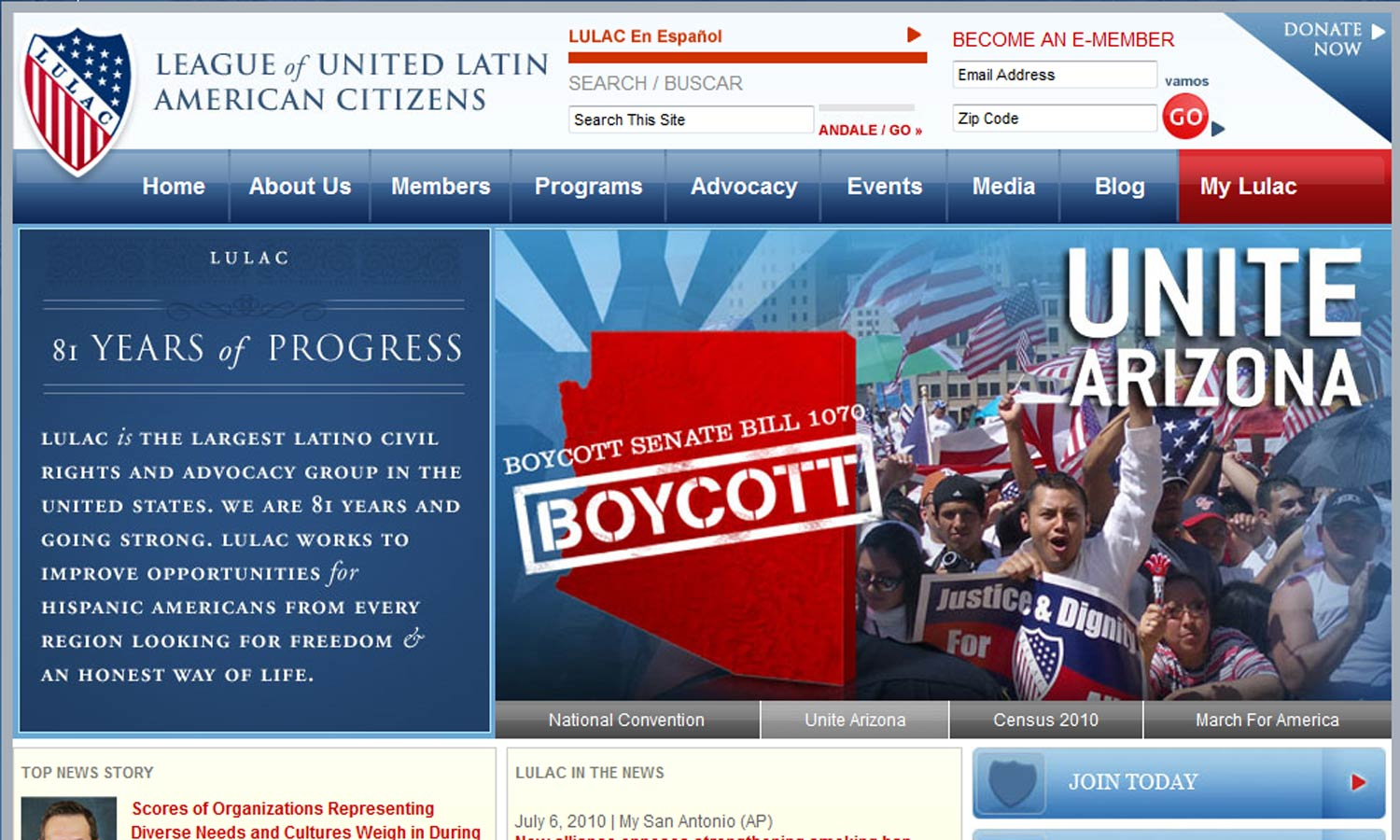 Lulac's website