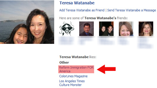 Teresa Watanabe's Facebook